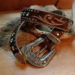 Nocona hair on belt